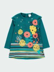 vestido-punto-elastico-flores-de-nina